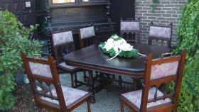 Foto 7 antik esszimmer schrank und tisch mit 6 stüle