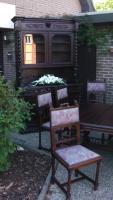 Foto 8 antik esszimmer schrank und tisch mit 6 stüle