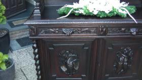 Foto 11 antik esszimmer schrank und tisch mit 6 stüle