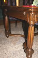 Foto 2 antiker Eichentisch, Tisch, Intarsien, Ende 19. Jh.