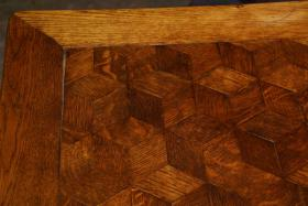 Foto 3 antiker Eichentisch, Tisch, Intarsien, Ende 19. Jh.