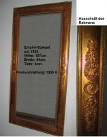 antiker, wunderschöner Spiegel mit Goldrahmen