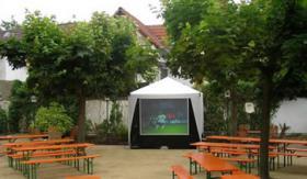 au�en Gro�bildleinwand Public Viewing Videowand 175cm Diagonale Fu�ball EM WM LCD TV Videowall