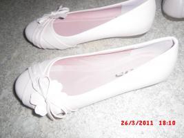 ballerinas rosa mit blümchen  grösse 37