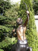 beeindruckende lebensgroße Bronzeskulptur ''Centaurus'' (Belgien)