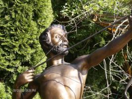 Foto 2 beeindruckende lebensgroße Bronzeskulptur ''Centaurus'' (Belgien)