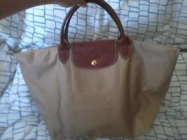beige Longchamp Tasche in M