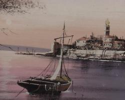 Foto 4 boot in bucht maritim gemälde