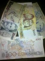 brasilianische alte währung- - cruzeiros--diverse scheine