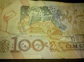 Foto 2 brasilianische alte währung- - cruzeiros--diverse scheine