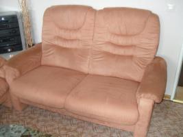 couchgarnitur,4 teile! sofas + sessel im Terrakottaton, top gepflegt