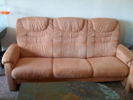 Foto 2 couchgarnitur,4 teile! sofas + sessel im Terrakottaton, top gepflegt