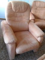 Foto 3 couchgarnitur,4 teile! sofas + sessel im Terrakottaton, top gepflegt