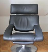deSede Sessel DS-255/11, Leder schwarz