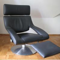 Foto 2 deSede Sessel DS-255/11, Leder schwarz