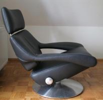 Foto 3 deSede Sessel DS-255/11, Leder schwarz