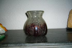 Foto 2 dickwandige schwere Glasvase