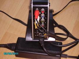 Foto 3 digitaler Multimediaplayer f�r SATA Festplatten mit Fernbedienung