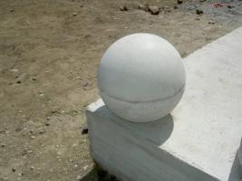 Foto 3 drei st�ck halbrund aus beton Mass:35 x 16 cm