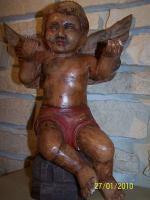 einmalig sehr schöner alter ENGEL um 1600 / 1700 ( gefunden in einem Kloster )