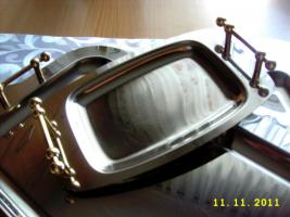 Foto 4 elegante Servierplatten und zwei passende Butterschalen