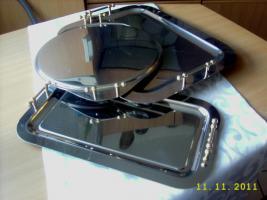 Foto 6 elegante Servierplatten und zwei passende Butterschalen