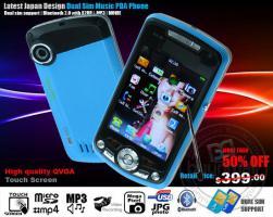 Foto 2 exilim handy 8 mega pixel blau, metall dual sim pda smartphone