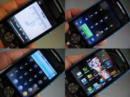 Foto 4 exilim handy 8 mega pixel blau, metall dual sim pda smartphone