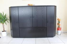 Foto 3 exklusive Wohwand und Highboard Hülsta Spektrum Esche schwarz