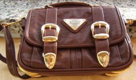 Foto 2 exquisite Designer Handtasche -Leder -neuw.