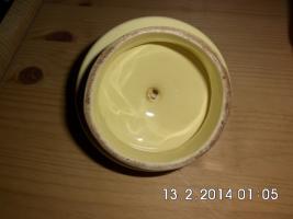 Foto 4 feuerfeste, gelbe Kanne