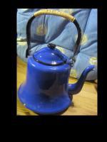 nostalgischer teekessel - blau