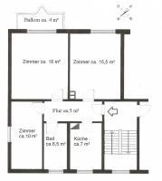 frisch renovierte 3-R-Wohnung, zentrumsnah