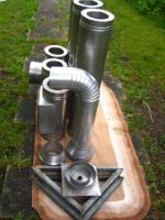 Foto 3 gebrauchter Edelstahlkamin 4,5 m doppelwandig (bei München)