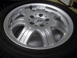 Foto 3 gepflegte SLK Mercedes Benz 7 Speichen Leichtschmiedefelgen 16 Zoll ( 7 x 16 ET 34 mm )