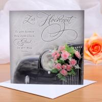 geschmackvolle Glückwunschkarte speziell zur Hochzeit