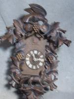 Foto 2 große Kukkuks-Uhr 65cm groß 60er Jahre