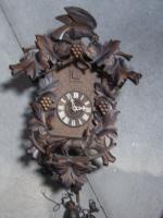 Foto 3 große Kukkuks-Uhr 65cm groß 60er Jahre