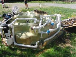 Foto 4 großen Außenwhirlpool für 4-5 Pers.