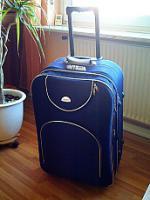Foto 2 großer Reisekoffer-BLAU-TOP Zustand-neuwertig