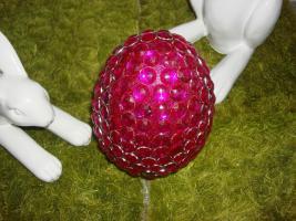 Foto 2 großes Ei, Dekoei 18 cm rot