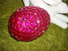Foto 3 großes Ei, Dekoei 18 cm rot