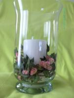 grosses Garten - Windlicht - klassisch - feines Glas