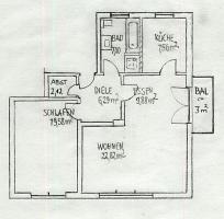 großzügige helle 2 Zimmer-Wohnung