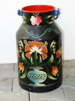 handbemalte Milchkanne, Bauern Kanne, Dekoration, Gemälde