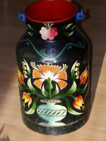 Foto 3 handbemalte Milchkanne, Bauern Kanne, Dekoration, Gemälde