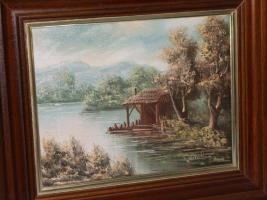 haus am see franz sischer maler in ketzin von privat gem lde. Black Bedroom Furniture Sets. Home Design Ideas