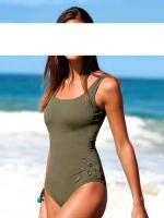 heine - Badeanzug mit Nieten khaki Gr. 40 - OVP - NEU