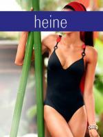 heine - Badeanzug schwarz-rot Gr. 34 B-Cup - OVP - NEU