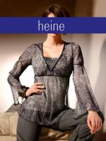 heine - Chiffon-Tunika Nieten grau Gr. 36 - OVP - NEU